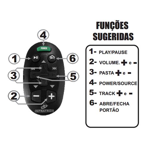Controle Remoto de Longa Distância Som Automotivo Infratron Uno Vermelho  - BEST SALE SHOP
