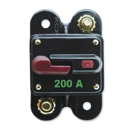 Disjuntor Automotivo 200A Proteção Som Resetável Liga Desliga  - BEST SALE SHOP