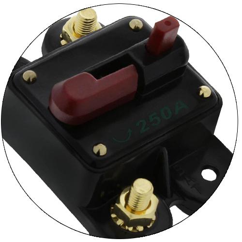 Disjuntor Automotivo 250A Proteção Som Resetável Liga Desliga  - BEST SALE SHOP