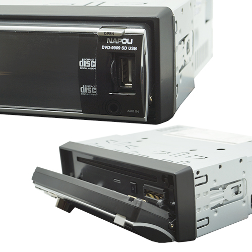 Dvd Automotivo 1 Din 3.0 Napoli DVD-9909 Sd Usb Iluminação Azul  - BEST SALE SHOP