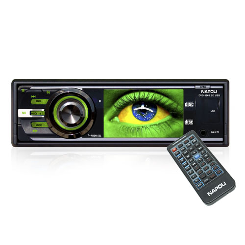 Dvd Automotivo 1 Din 3.2 Napoli DVD-9909 Sd Usb Iluminação Verde  - BEST SALE SHOP