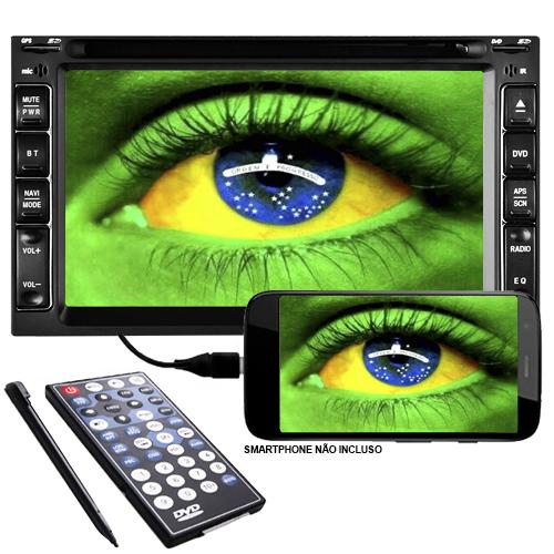 Dvd Automotivo 2 Din 6.2 Tay Tech S95 Premium Universal SD Usb Bluetooth Tv Digital Gps  - BEST SALE SHOP