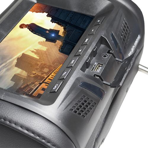 Encosto Cabeça Tela Monitor Leitor Dvd Tech One Standard Preto  - BEST SALE SHOP