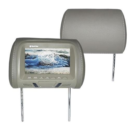 Encosto Cabeça Tela Monitor Usb SD + Encosto de Cabeça Escravo Tech One Standard Cinza  - BEST SALE SHOP
