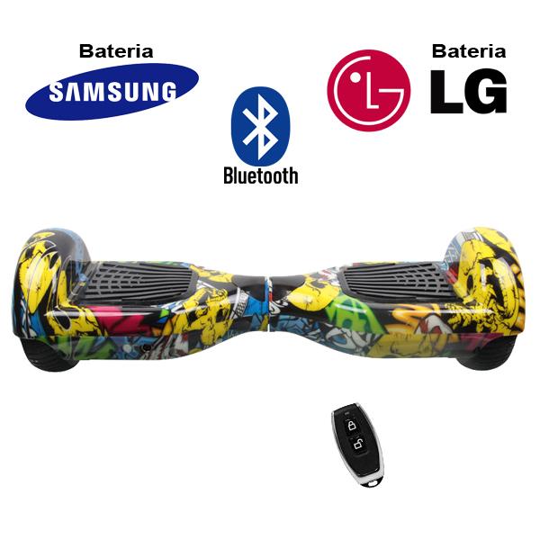 Hoverboard Scooter 2 Rodas Elétrico Bluetooth Amarelo Colorido 6,5 Polegadas Bateria LG ou Samsung com Bolsa  - BEST SALE SHOP