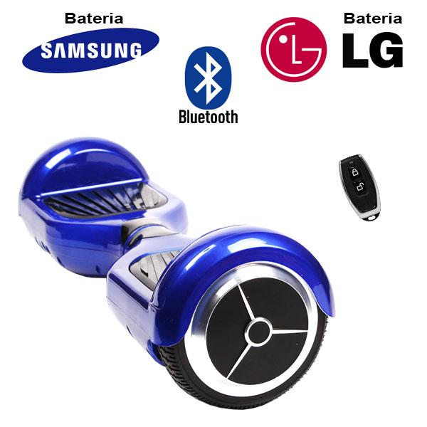 Hoverboard Scooter 2 Rodas Elétrico Bluetooth Azul 6,5 Polegadas Bateria LG ou Samsung com Bolsa  - BEST SALE SHOP