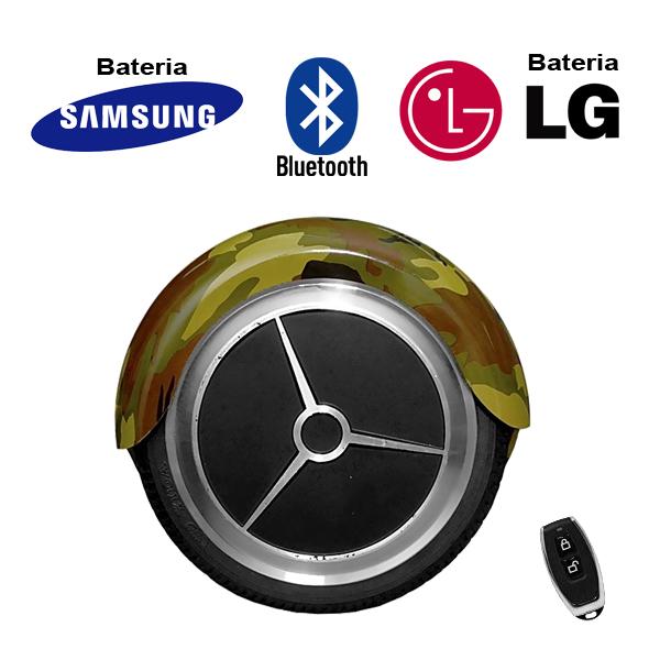 Hoverboard Scooter 2 Rodas Elétrico Bluetooth Camuflado 6,5 Polegadas Bateria LG ou Samsung com Bolsa  - BEST SALE SHOP