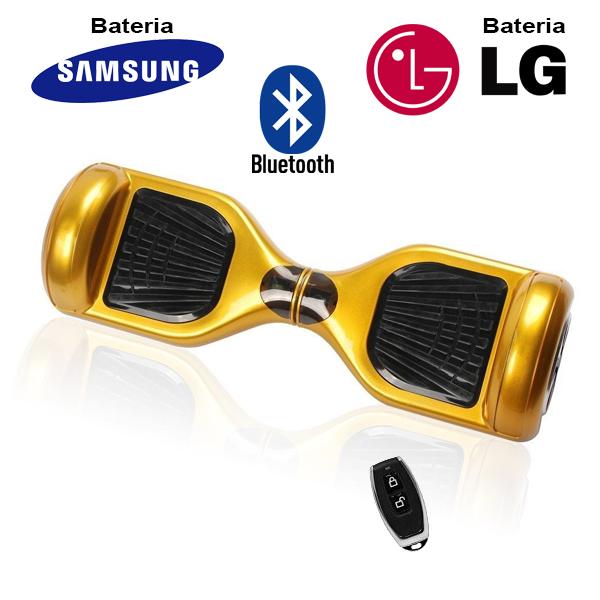 Hoverboard Scooter 2 Rodas Elétrico Bluetooth Dourado 6,5 Polegadas Bateria LG ou Samsung com Bolsa  - BEST SALE SHOP