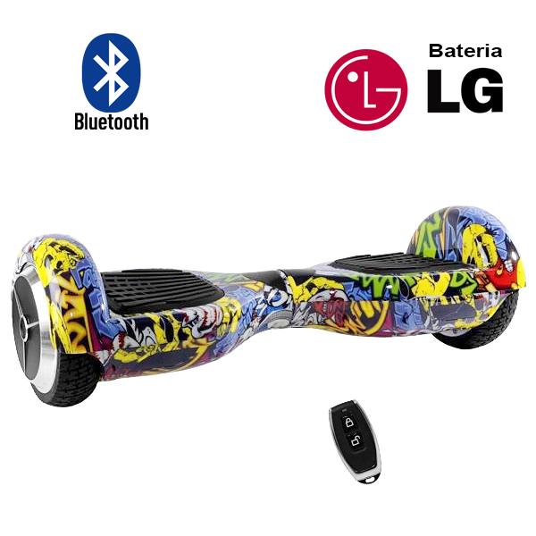 Hoverboard Scooter 2 Rodas Elétrico Bluetooth Inovia PB-01BT Amarelo Colorido Yellow-G 6,5 Polegadas Bateria LG  - BEST SALE SHOP
