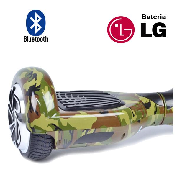Hoverboard Scooter 2 Rodas Elétrico Bluetooth Inovia PB-01BT Camuflado Army-G 6,5 Polegadas Bateria LG  - BEST SALE SHOP