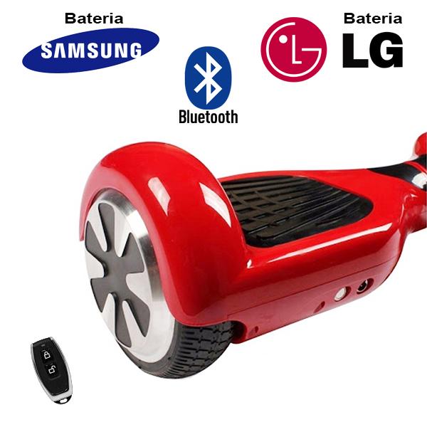 Hoverboard Scooter 2 Rodas Elétrico Bluetooth Vermelho 6,5 Polegadas Bateria LG ou Samsung com Bolsa  - BEST SALE SHOP