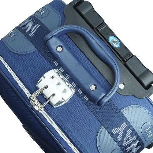 Kit 3 Malas de Viagem Jogo Conjunto Pequena Média Grande com Rodinha Importway Azul  - BEST SALE SHOP