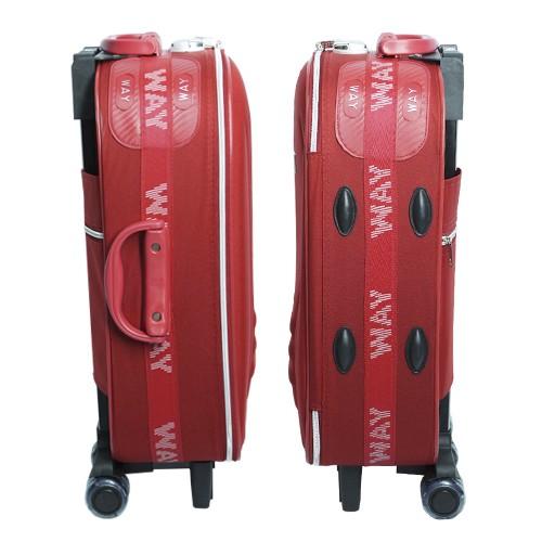 Kit 3 Malas de Viagem Jogo Conjunto Pequena Média Grande com Rodinha Importway Vermelha  - BEST SALE SHOP