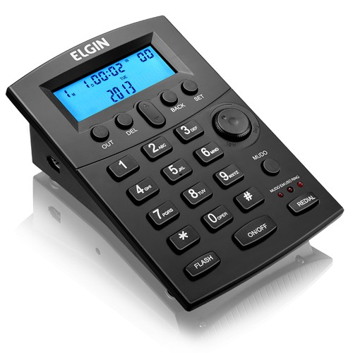 Kit 3 Telefones Headset com Base Discadora Teclado e Identificador de Chamadas Elgin HST 8000 Preto  - BEST SALE SHOP