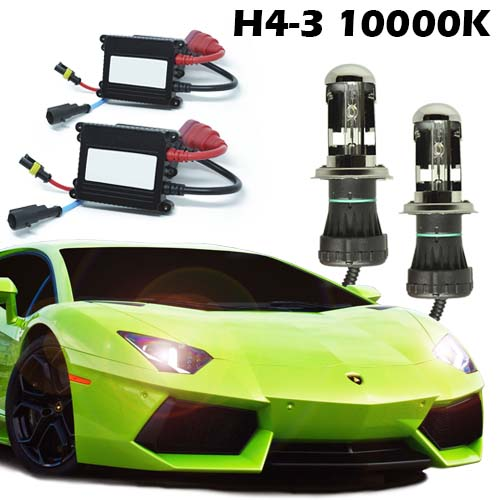 Kit Bi Xenon Carro 12V 35W H4-3 10000K  - BEST SALE SHOP