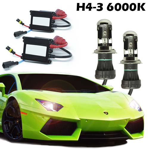 Kit Bi Xenon Carro 12V 35W H4-3 6000K  - BEST SALE SHOP