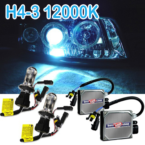 Kit Bi Xenon Carro 12V 35W Jl Auto Parts H4-3 12000K - BEST SALE SHOP