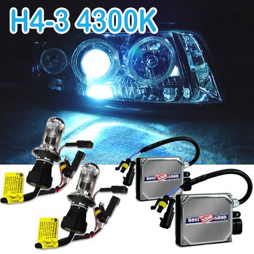 Kit Bi Xenon Carro 12V 35W Jl Auto Parts H4-3 4300K - BEST SALE SHOP