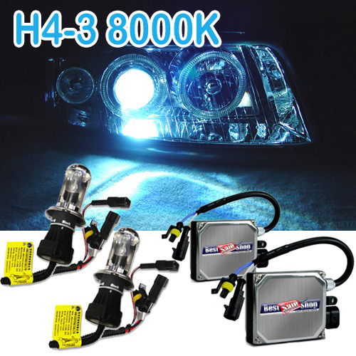 Kit Bi Xenon Carro 12V 35W Rayx H4-3 8000K  - BEST SALE SHOP