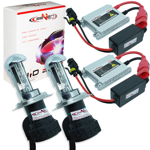 Kit Bi Xenon Carro 12V 35W Seven Parts H4-3 8000K  - BEST SALE SHOP