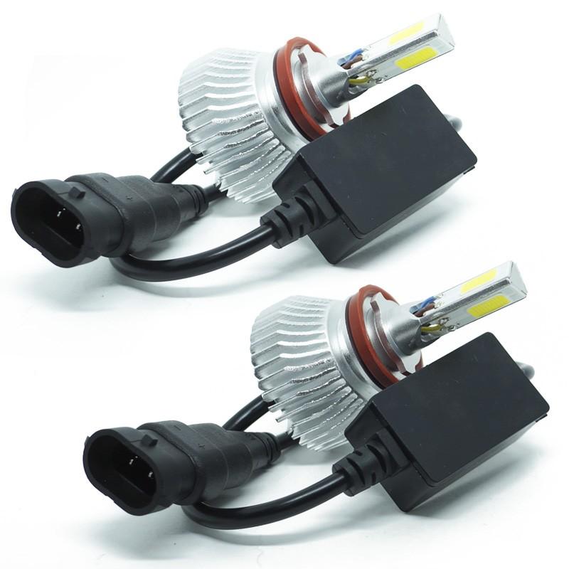 Kit Par Lâmpada Super Led Automotiva Farol Carro 3D H11 8000 Lumens 12V 24V 6000K  - BEST SALE SHOP