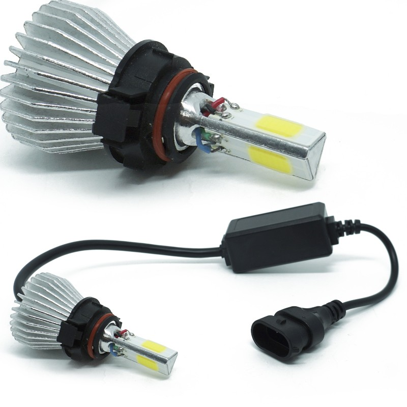 Kit Par Lâmpada Super Led Automotiva Farol Carro 3D H16 8000 Lumens 12V 24V 6000K  - BEST SALE SHOP