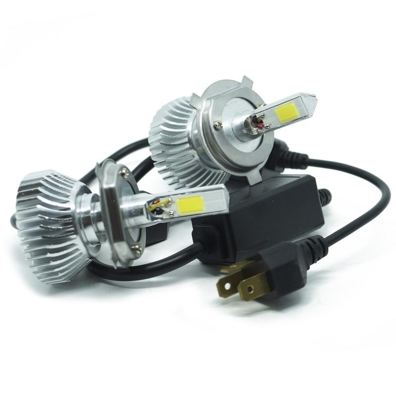Kit Par Lâmpada Super Led Automotiva Farol Carro 3D H4 (Bi) 8000 Lumens 12V 24V 6000K  - BEST SALE SHOP
