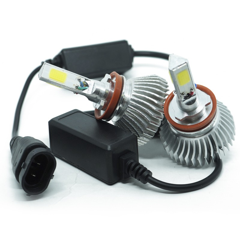 Kit Par Lâmpada Super Led Automotiva Farol Carro 3D H8 8000 Lumens 12V 24V 6000K  - BEST SALE SHOP