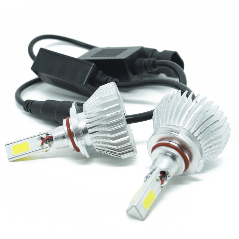 Kit Par Lâmpada Super Led Automotiva Farol Carro 3D HB3 9005 8000 Lumens 12V 24V 6000K  - BEST SALE SHOP