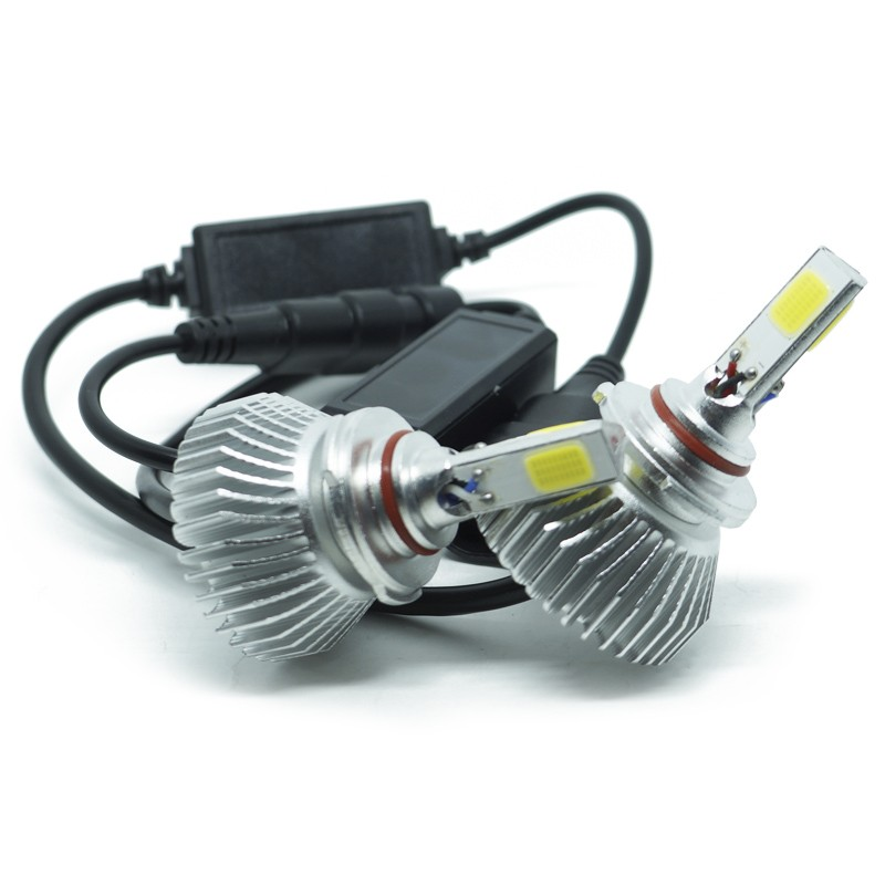Kit Par Lâmpada Super Led Automotiva Farol Carro 3D HB4 9006 8000 Lumens 12V 24V 6000K  - BEST SALE SHOP