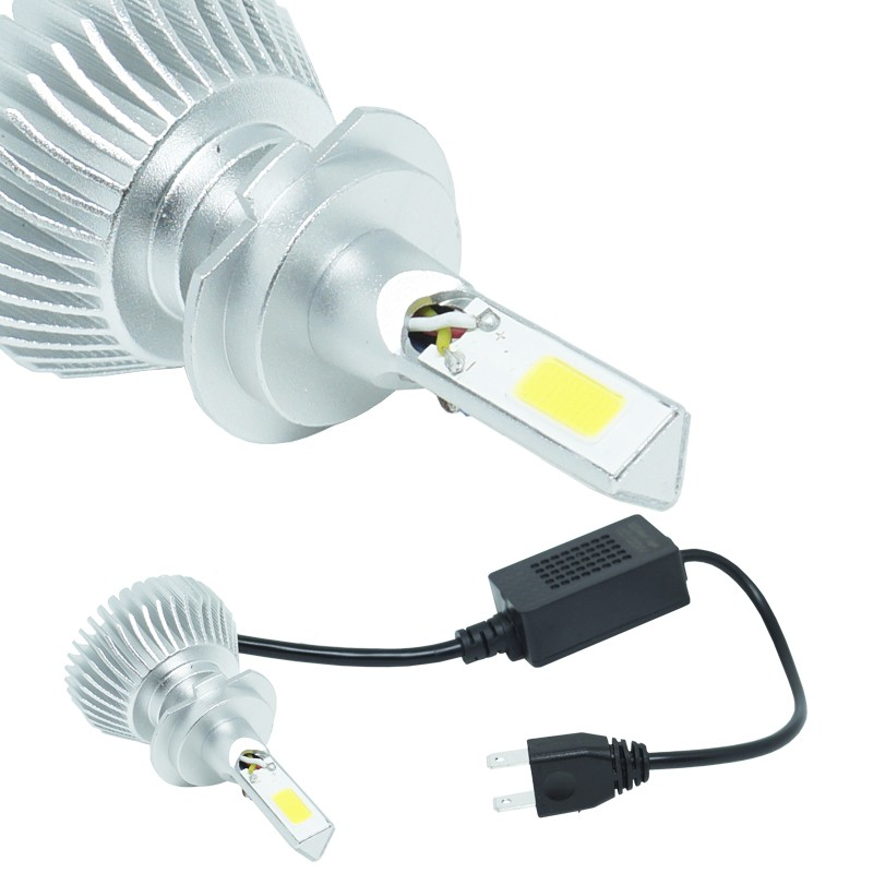 Kit Par Lâmpada Super Led Automotiva Farol Carro 3D H7 8000 Lumens 12V 24V 6000K  - BEST SALE SHOP
