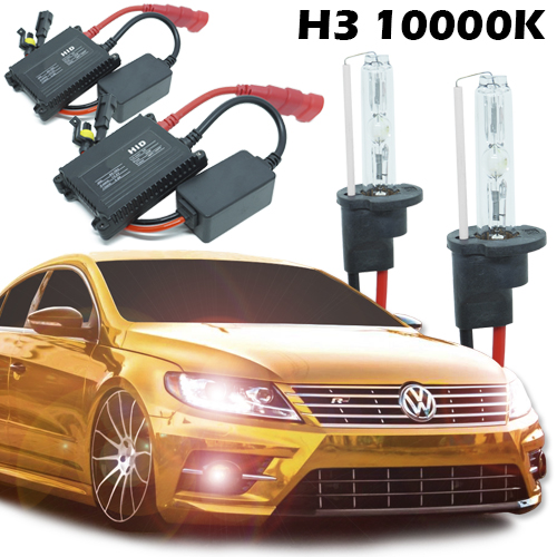 Kit Xenon Carro 12V 35W H3 10000K - BEST SALE SHOP
