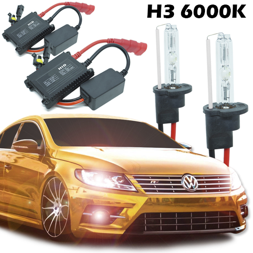 Kit Xenon Carro 12V 35W H3 6000K  - BEST SALE SHOP