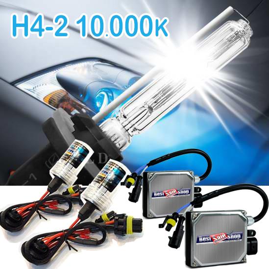 Kit Xenon Carro 12V 35W Tay Tech H4-2 10000K  - BEST SALE SHOP