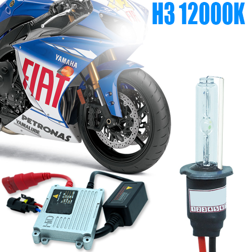 Kit Xenon Moto 12V 35W H3 12000K  - BEST SALE SHOP