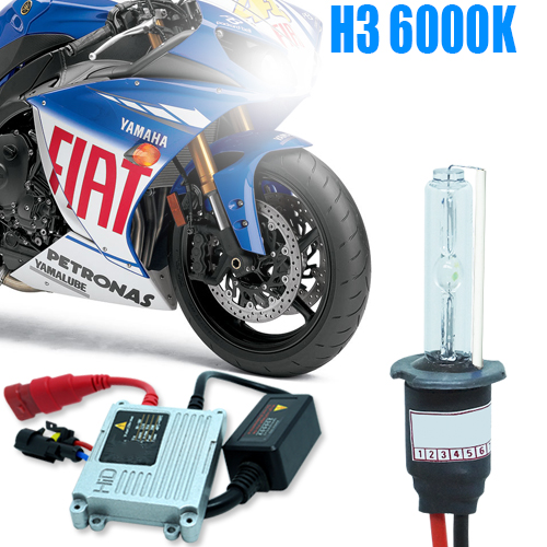 Kit Xenon Moto 12V 35W H3 6000K  - BEST SALE SHOP
