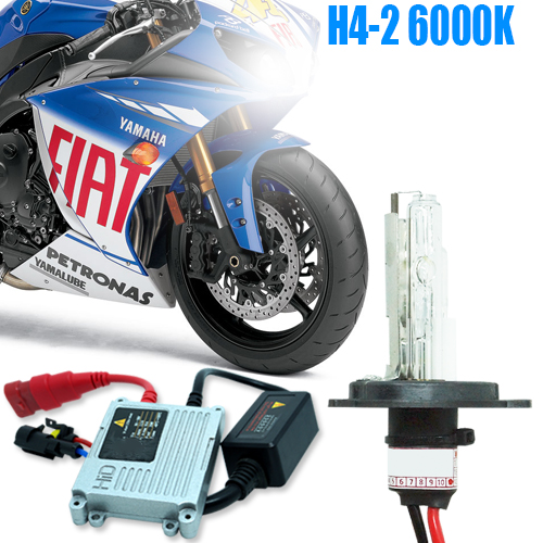 Kit Xenon Moto 12V 35W H4-2 6000K - BEST SALE SHOP
