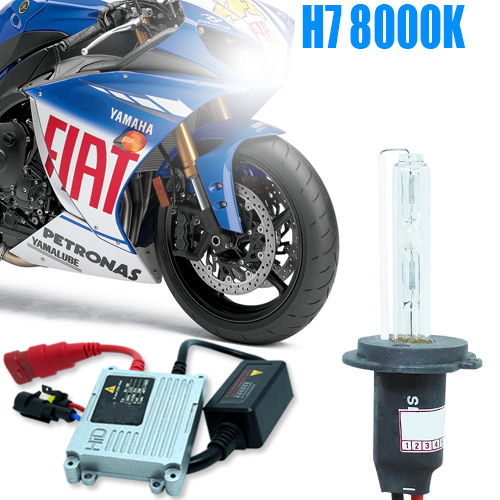 Kit Xenon Moto 12V 35W H7 8000K  - BEST SALE SHOP