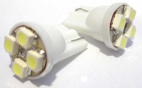 Lâmpada Led 12V T10 Importado 4 Leds (Par) Vermelho  - BEST SALE SHOP