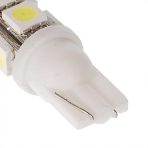 Lâmpada Led 12V T10 Importado 9 Leds (Par) Amarelo  - BEST SALE SHOP