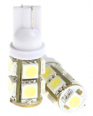 Lâmpada Led 12V T10 Importado 9 Leds (Par) Verde  - BEST SALE SHOP