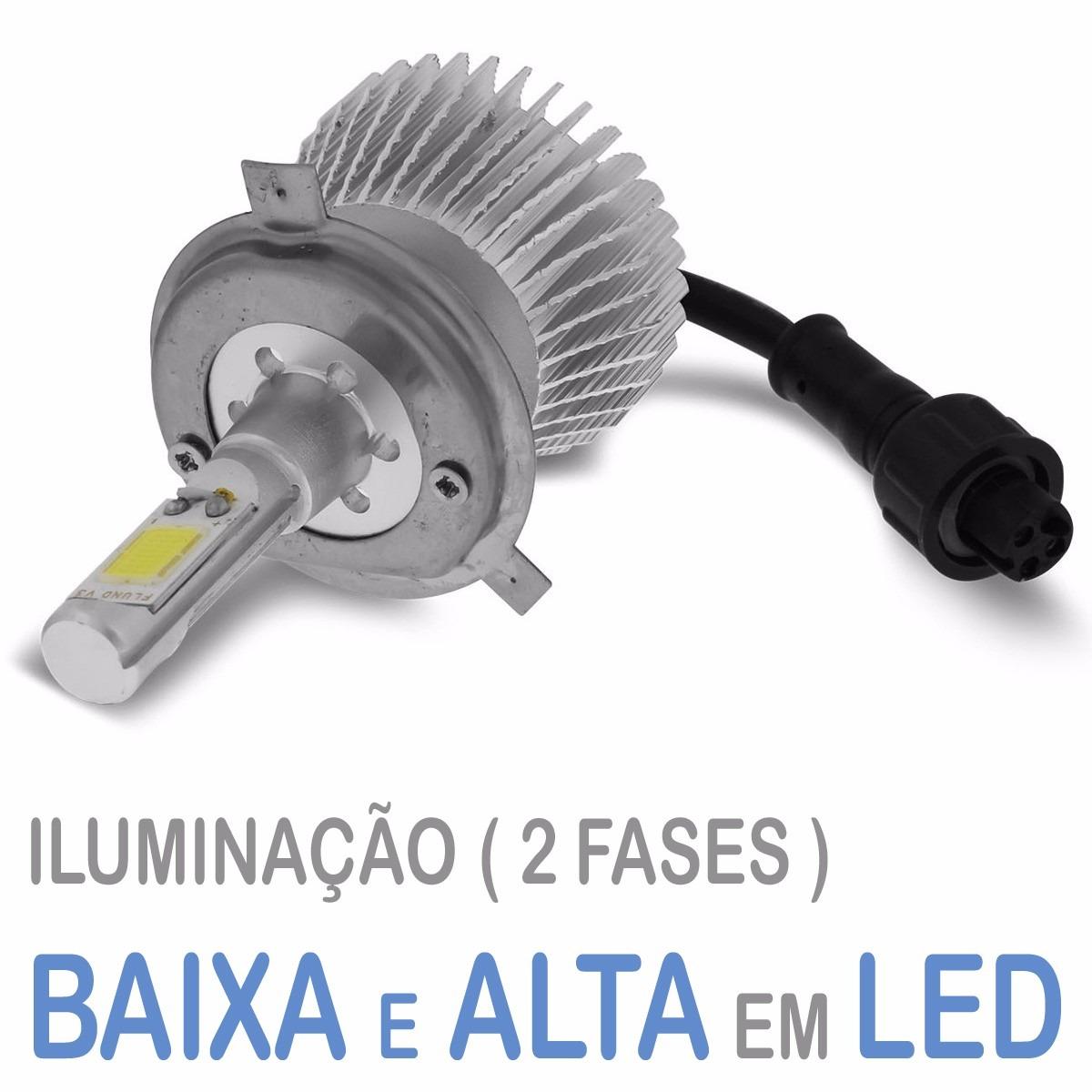 Lâmpada Super Led 3200 Lumens 12V 24V 32W Seven Parts H4 6000K  - BEST SALE SHOP
