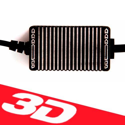 Lâmpada Super Led 3600 Lumens 12V 24V 40W Shocklight Power Led 3D H4 (Bi) 6000K  - BEST SALE SHOP