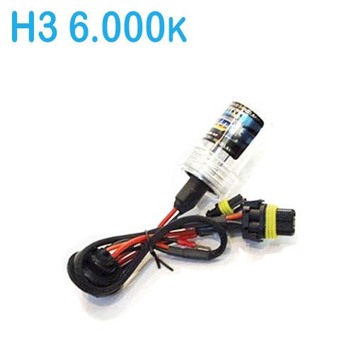 Lâmpada Xenon Reposição 12V 35W H3 6000K  - BEST SALE SHOP