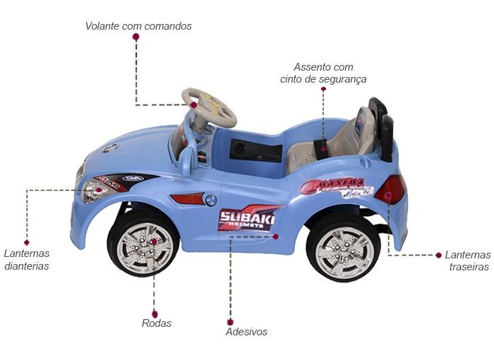 Mini Carro Elétrico Infantil 6V Importway BW001-A Azul  - BEST SALE SHOP