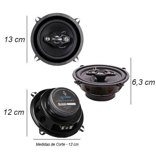 Par Alto Falante 5 Polegadas 100W Rms 4 Vias Quadriaxial Roadstar RS-5  - BEST SALE SHOP