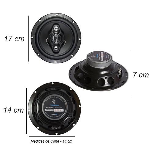 Par Alto Falante 6,5 Polegadas 120W Rms 4 Vias Quadriaxial Roadstar RS-1609BR  - BEST SALE SHOP