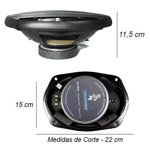 Par Alto Falante 6x9 Polegadas 300W Rms 5 Vias Pentaxial Roadstar RS-6994  - BEST SALE SHOP