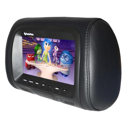 Par Encosto Cabeça Tela Monitor 1 Leitor Dvd Tech One Standard Preto  - BEST SALE SHOP