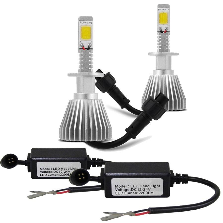Par Lâmpada Super Led 4400 Lumens 12V 24V H11 6000K  - BEST SALE SHOP